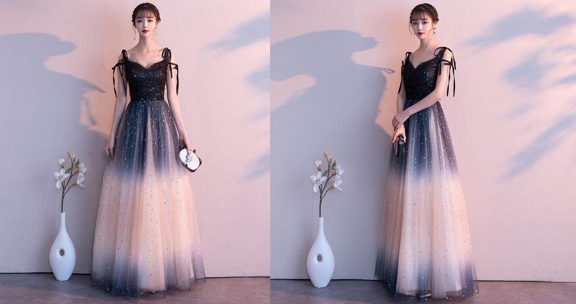 Các nàng không nên chọn những bộ váy dạ hội quá rườm rà khi đi dự tiệc