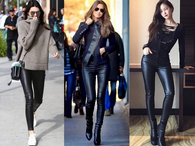 """Những chiếc quần da chưa bao giờ ngưng """"hot"""" về mặt thời thượng và sành điệu"""